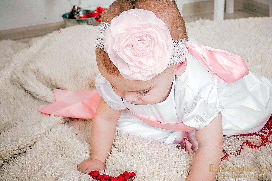 Повязка для девочки с цветком
