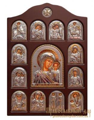 Домашний иконостас Пресвятая Богородица Казанская 28x42 см